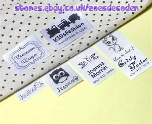 30x custom clothes logo label sew in hanging tag fabric With custom fabric sew in labels