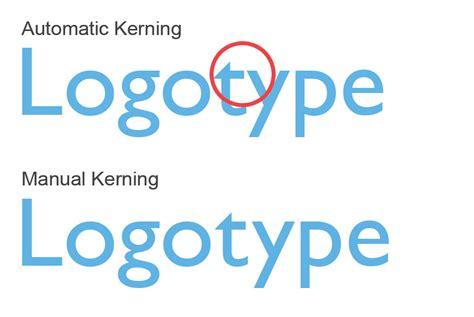 kerning typography when designing a logo logo geek