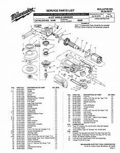 Milwaukee 6148 856e Parts  2 Angle Grinder