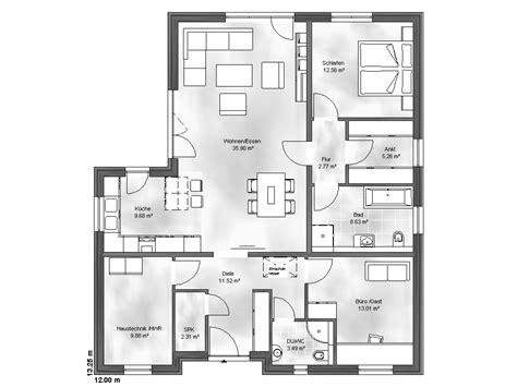 Grundriss Bungalow 3 Zimmer by Haus Bungalow 3 Hausbau24