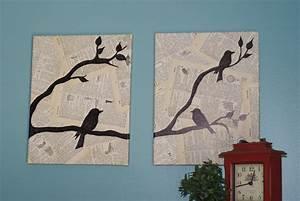 Crafting on a budget diy bird canvas wall art