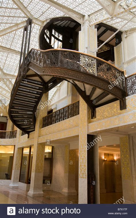 Illinois Chicago Lobby Interior Of Rookery Building