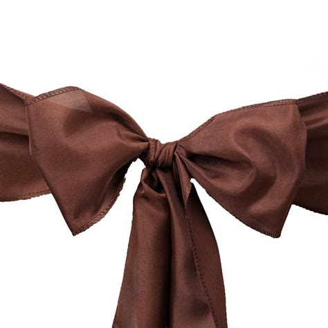 50 polyester chair sashes ties bows wedding ceremony