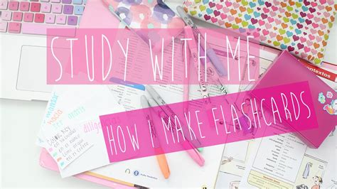 Study With Me How I Make Flashcards ♡ Youtube