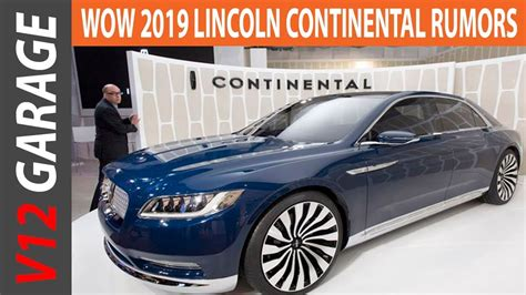 2019 Lincoln Continental Review Specs And Price Youtube