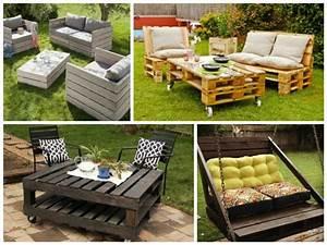 meuble exterieur en palette de bois mzaolcom With meuble jardin palette