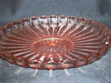 Anchor Hocking Old Cafe Pink Depression Glass Footed Candy