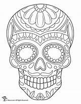 Sugar Skulls Printable Skull Coloring Colouring Sheets Halloween Paper Comprehensive Kleurplaten Grownup Useless Grownups Guides Tattoo Sweet Woman Google Graphic sketch template