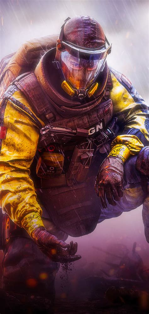 1080x2280 Gas Mask Tom Clancys Rainbow Six Siege One Plus