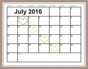 Printable Calenders Free Printable July Calendar Easy Print 2015 2016 2017