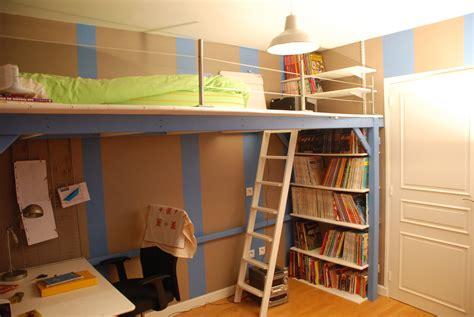 chambre ado lit 2 places mezzanine sur mesure pour une chambre d adolescent