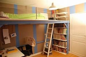 Lit Mezzanine Ado : mezzanine sur mesure pour une chambre d adolescent atelier pourquoi pas mobilier design sur ~ Teatrodelosmanantiales.com Idées de Décoration