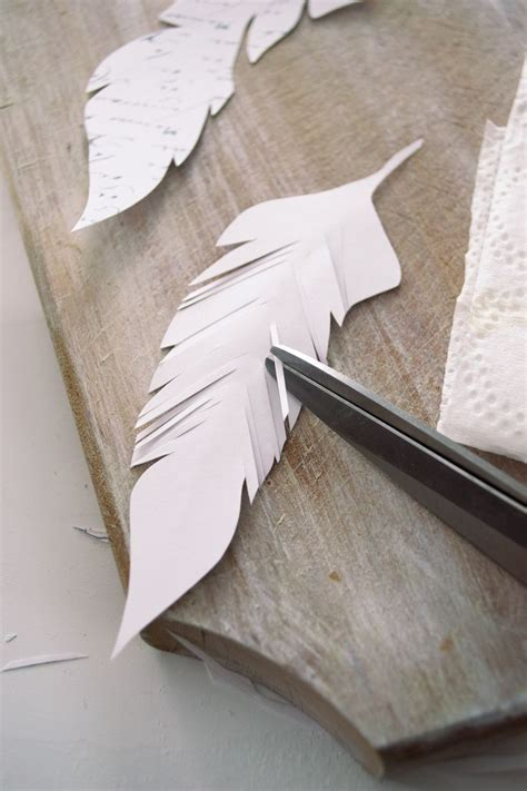 diy french script paper feathers project  printable