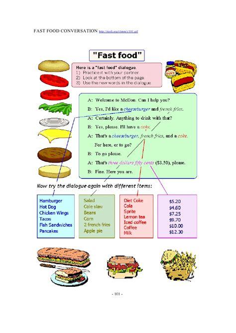 n駮n cuisine fast food conversation