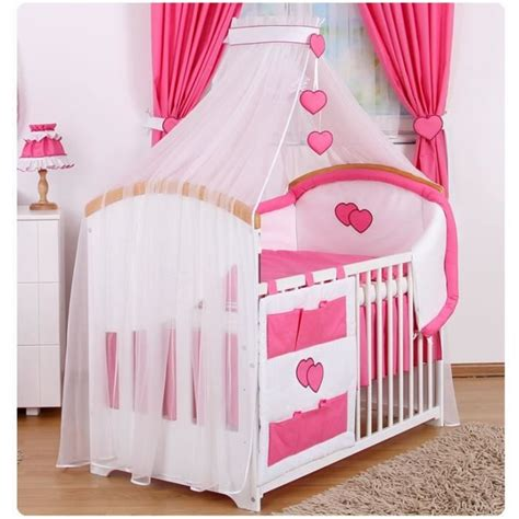 parure 6 pcs linge lit bébé ciel et tour de lit