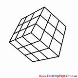 Pages Cube Coloring Printable Rubik Colouring Sheet Rubiks Sheets Title Hits Coloringpagesfree sketch template