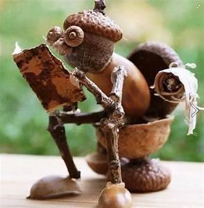 Pinterest Deco Noel Recup : petit bricolage d automne avec des glands noix et ~ Zukunftsfamilie.com Idées de Décoration