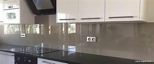Découpe De Verre Sur Mesure : cr dence en verre laqu pour votre cuisine verre ~ Dailycaller-alerts.com Idées de Décoration