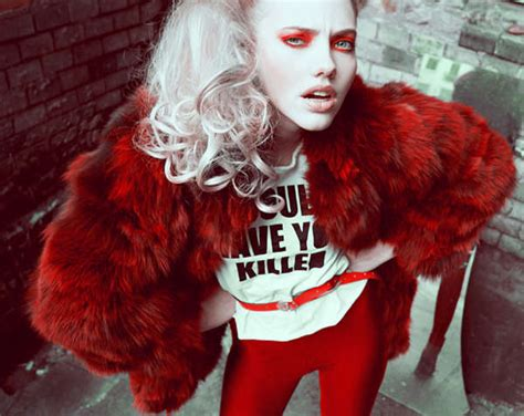 rebellious red fashion  red clothing