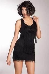 robe noir charleston a frange With robe a frange noir