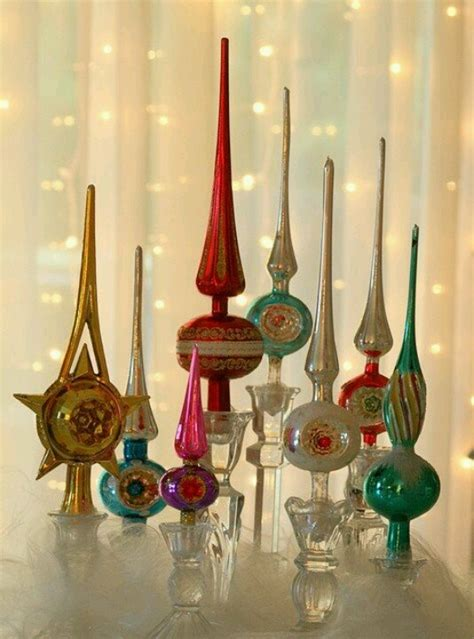 vintage glass tree toppers just because pinterest