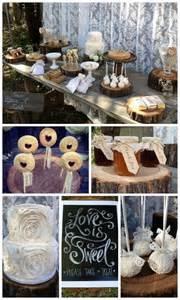 Rustic Bridal Shower Dessert Table