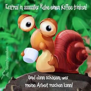 Lustige Guten Morgen Kaffee Bilder : cartoon schnecke kaffee ~ Frokenaadalensverden.com Haus und Dekorationen