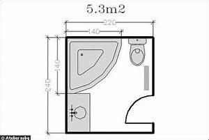 Plan Salle De Bain 4m2 : plan de salle de bains de 5 11 m conseils d ~ Dailycaller-alerts.com Idées de Décoration