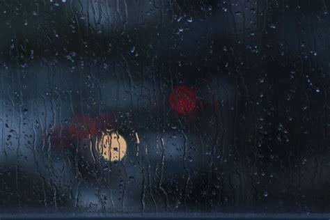 photo rain window bokeh glass dark  image