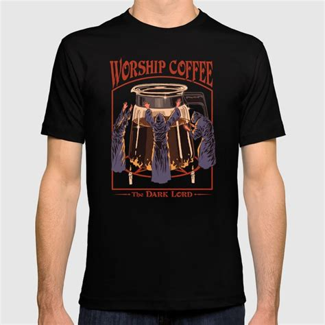 Check out our coffee shirt selection for the very best in unique or custom, handmade pieces from our одежда shops. Worship Coffee T-shirt by stevenrhodes   Society6
