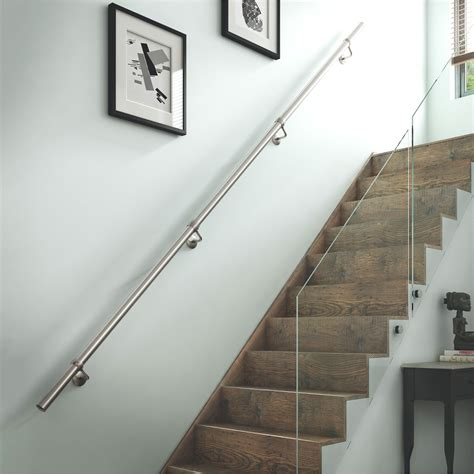Steel Banister by Stainless Steel Handrail Kit L 3600mm Departments Diy