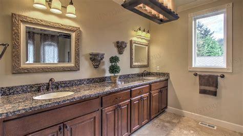 Baltic Brown Granite Countertops, Custom Bathroom