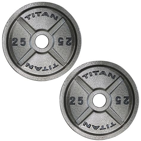 plates weight iron olympic cast lb titan pair fitness strength