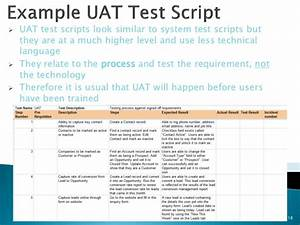 best practices for testing in salesforcecom With uat scenarios template
