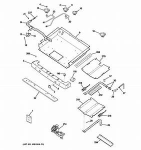 Gas  U0026 Burner Parts Diagram  U0026 Parts List For Model Pgb900sem3ss Ge