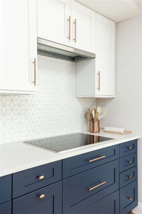 kitchen   white navy shaker cabinets white