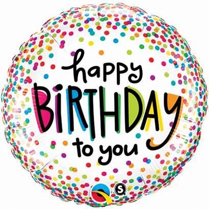Birthday Happy Balloon Confetti Foil Balloons Dots