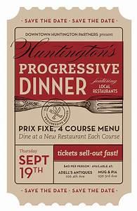 Movie Ticket Layout Progressive Dinner Poster By Trish Ward Design Ticket