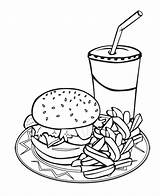 Coloring Mcdonalds Pages Printable Fries French Getcolorings Junk sketch template