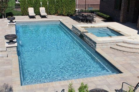 rectangle pool designs rectangle pool with water feature google search outdoor living pinterest outdoor living