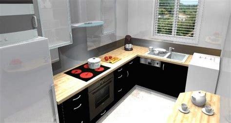 idee cuisine equipee cuisine équipée avec l 39 évier sous la fenêtre