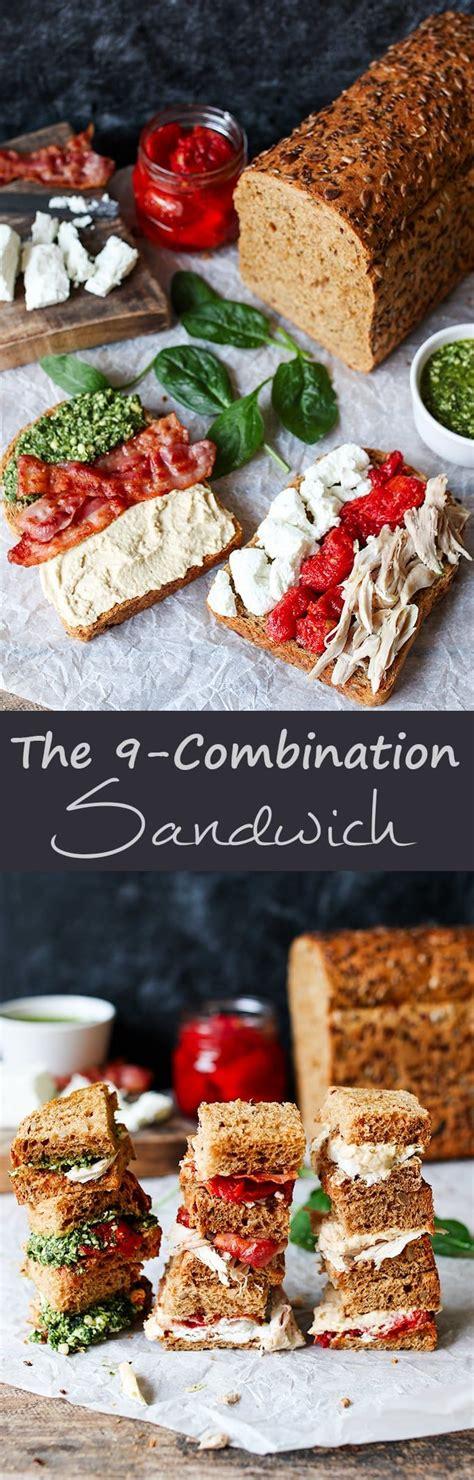 The 9-combination sandwich - Six fillings arranged in a ...