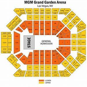 Mgm grand garden arena seating for Mgm grand garden arena seating