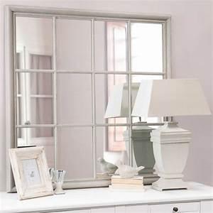 miroir en bois gris h 120 cm camargue maisons du monde With maison du monde miroirs
