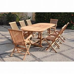 Salon Jardin Teck : kajang salon de jardin teck massif 8 personnes table ~ Melissatoandfro.com Idées de Décoration