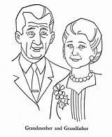 Coloring Parents Grandparents Pages Gran Printable Grandparent Getcolorings Netart sketch template