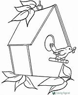 Coloring Bird Pages Birdhouse Clipart Sheets Drawing Outline Printable Clip Raisingourkids Houses Embroidery Birdhouses Getdrawings Fun Cartoon Printing Colouring Sheet sketch template