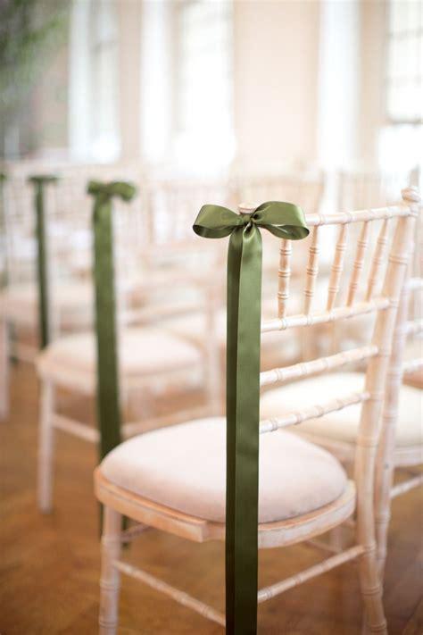Chic Summer Wedding In London Green Ribbon Decorating
