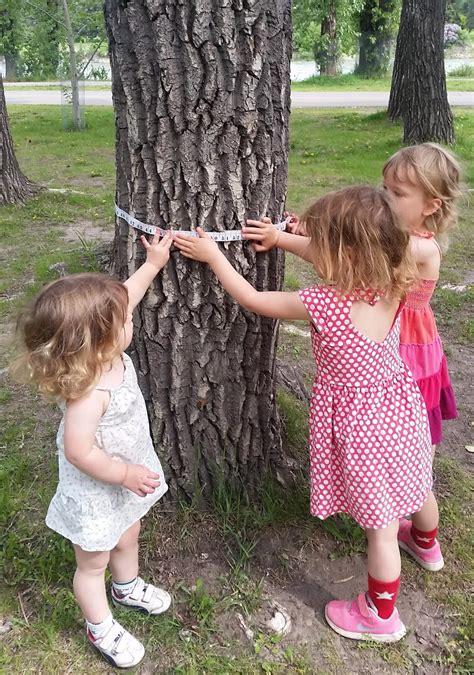 outdoor play  kids  tree themed activities