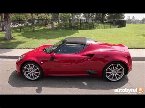 Alfa Romeo Spider Review 2016 alfa romeo 4c spider test drive review
